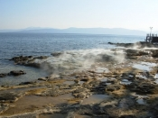 Hot springs on Evia island