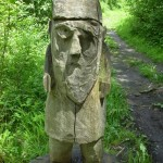 Sculpture in forest at Taninges