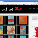 Red Ant Art – Abstract Art by Jolita