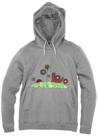 Summer Joy men's organic hoodie