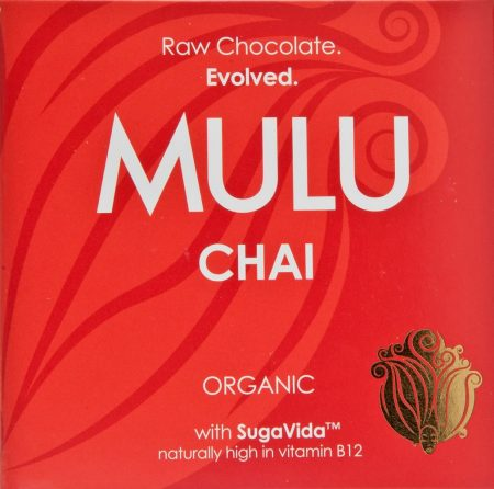 Mulu chai raw chocolate bar