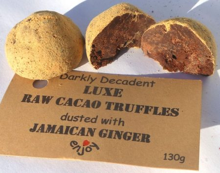 Ginger cacao truffles