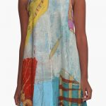 Abstract Colours and Shapes dress