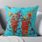 Abstract butterfly cushion