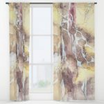 Window Curtains with abstract art