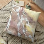 Floor Cushion with abstract art