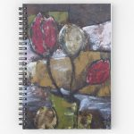 Tulips in Vase notebook