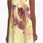 Vibrations abstract violet flowers dress