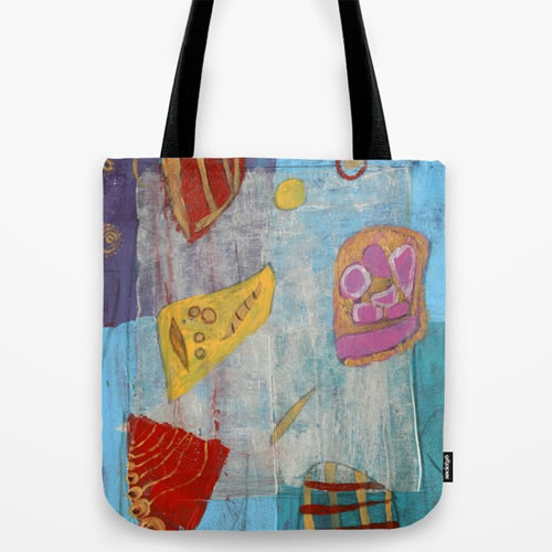 Colourful Abstract Shapes Tote Bag